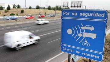 Señal de un radar de velocidad