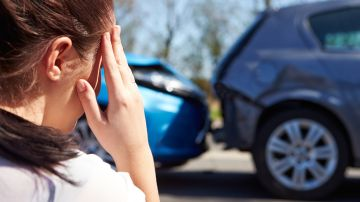 Imagen de un accidente de coche