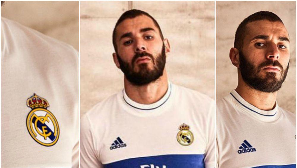 Benzema anuncia la nueva camiseta del Real Madrid 952919f727546