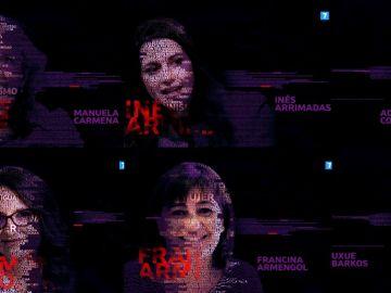 Manuela Carmena, Inés Arrimadas, Ada Colau, Mónica Oltra, Francina Armengol y Uxue Barkos, este domingo con Ana Pastor en El Objetivo