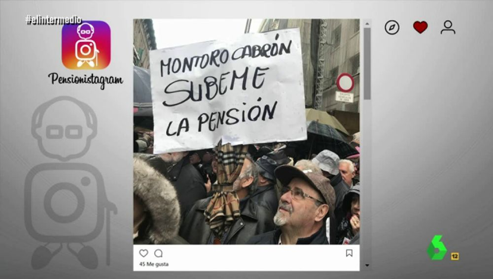 Foto de la marcha de los pensionistas