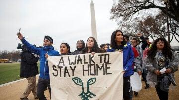 Un grupo de 'soñadores' llega a Washington tras recorrer más de 400km desde Nueva York