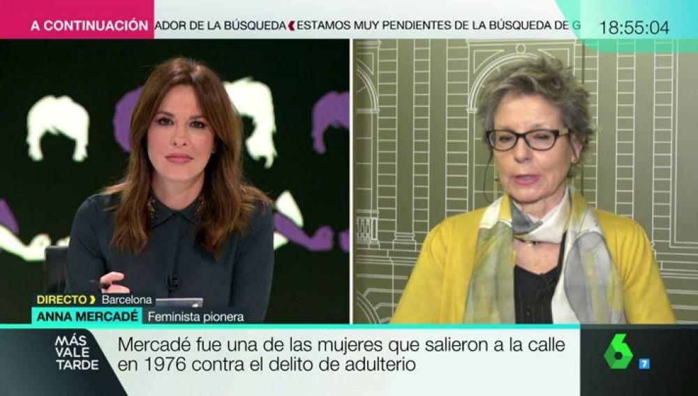 Anna Mercadé fue una de las mujeres que salieron a la calle en 1976 contra el delito de adulterio