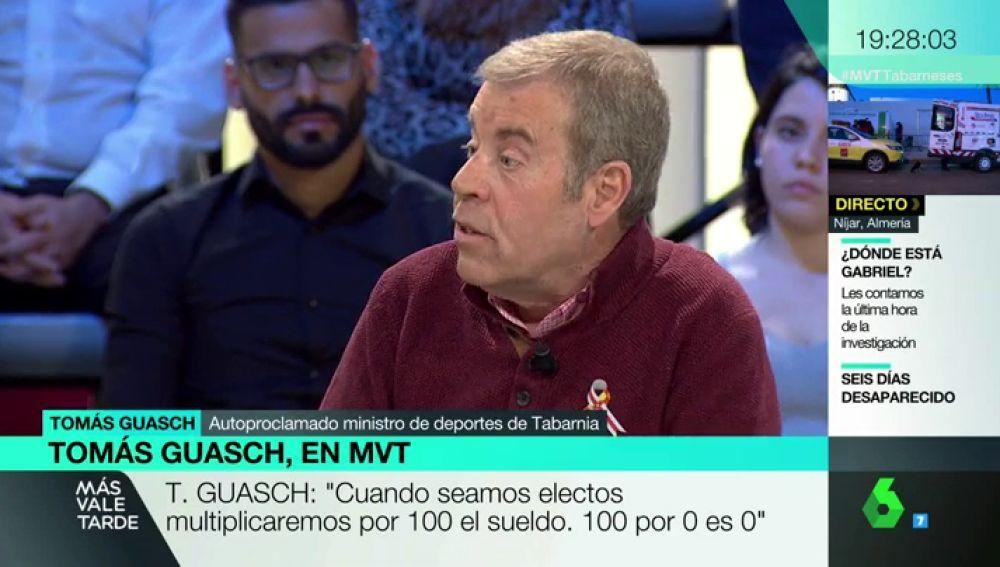 Tomás Guasch, autoproclamado ministro de Deportes de Tabarnia
