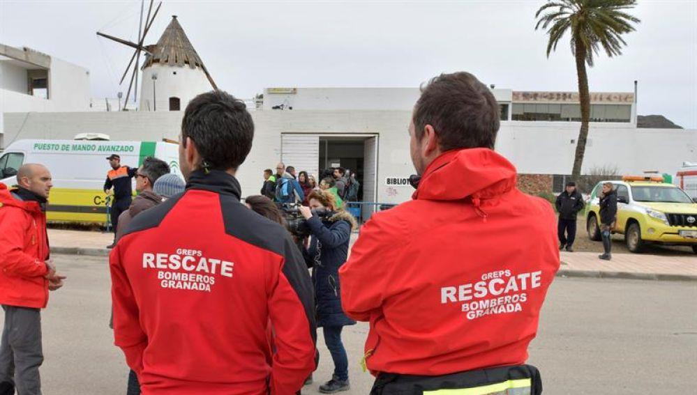 Bomberos de Granada participan en la búsqueda de Gabriel