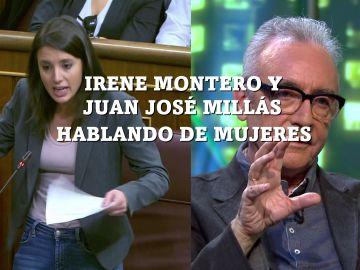 Irene Montero y Juan José Millás en laSexta Noche