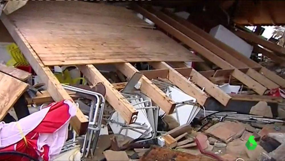 Destrozos en la costa andaluza por el temporal, los empresarios temen no llegar a la campaña de Semana Santa