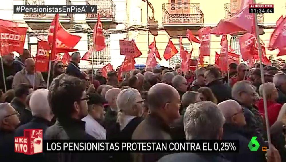 Pensionistas se manifiestan en Valencia