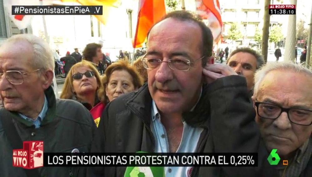 Miquel Lluch, secretario de la federación de pensionistas de Cataluña de CCOO