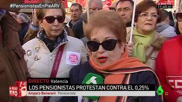 Amparo Benavent, pensionista