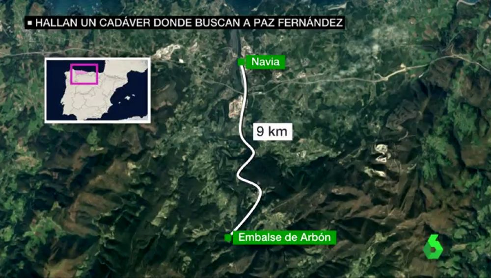 Hallan el cuerpo de una mujer en el embalse de Arbón, en Navia, la zona donde se buscaba a una de las desaparecidas de Asturias