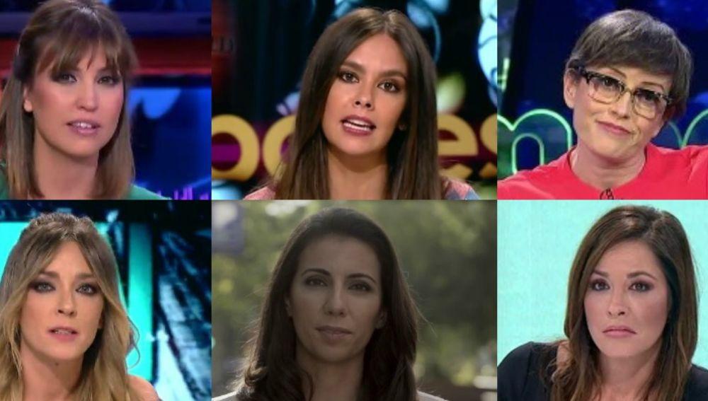 Sandra Sabatés, Cristina Pedroche, Thais Villas, Anna Simon, Ana Pastor y Mamen Mendizábal