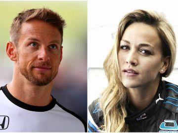 Jenson Button y Carmen Jordá