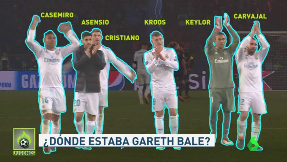 ¿Dónde estaba Gareth Bale en la celebración del Madrid en el Parque de los Príncipes?