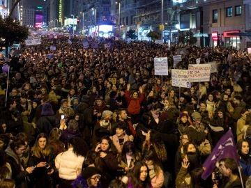 Manifestación por la huelga feminista del 8M en Madrid