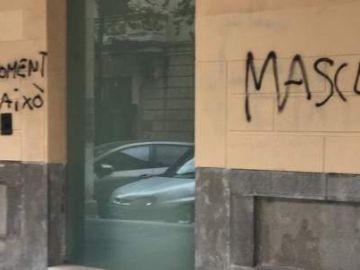 Pintadas en la sede del PP en Palma
