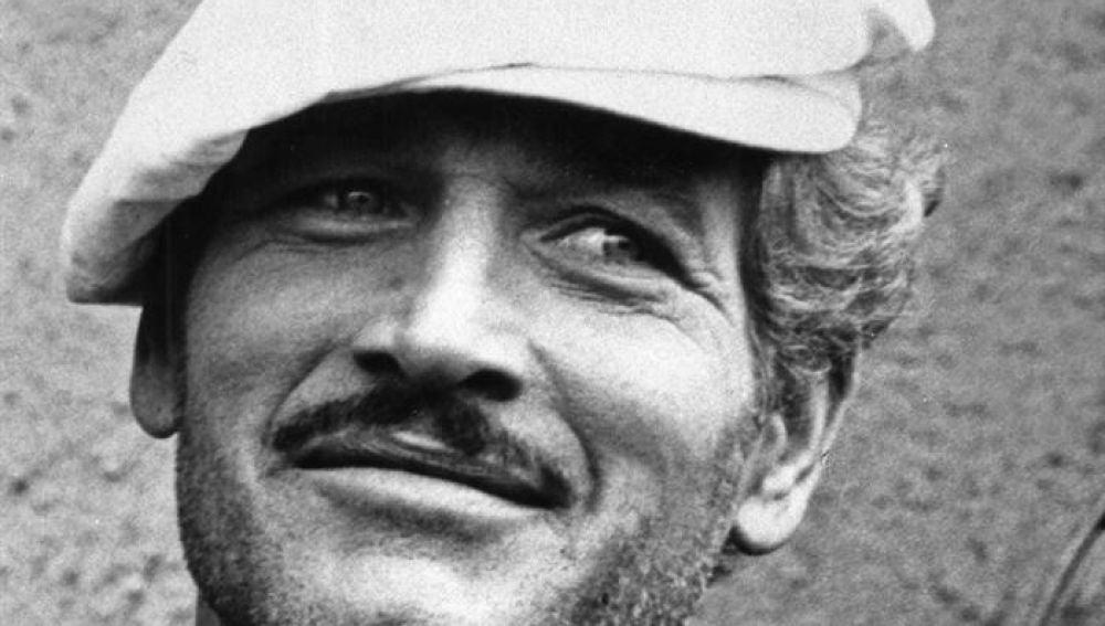 """El actor estadounidense Paul Newman durante el rodaje de la película """"El golpe"""""""