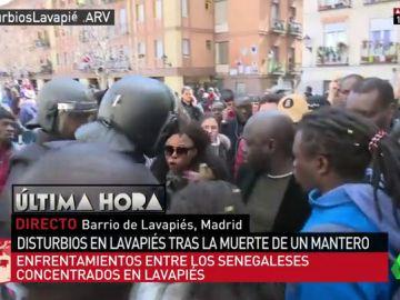 Tensión entre Policía y manifestantes