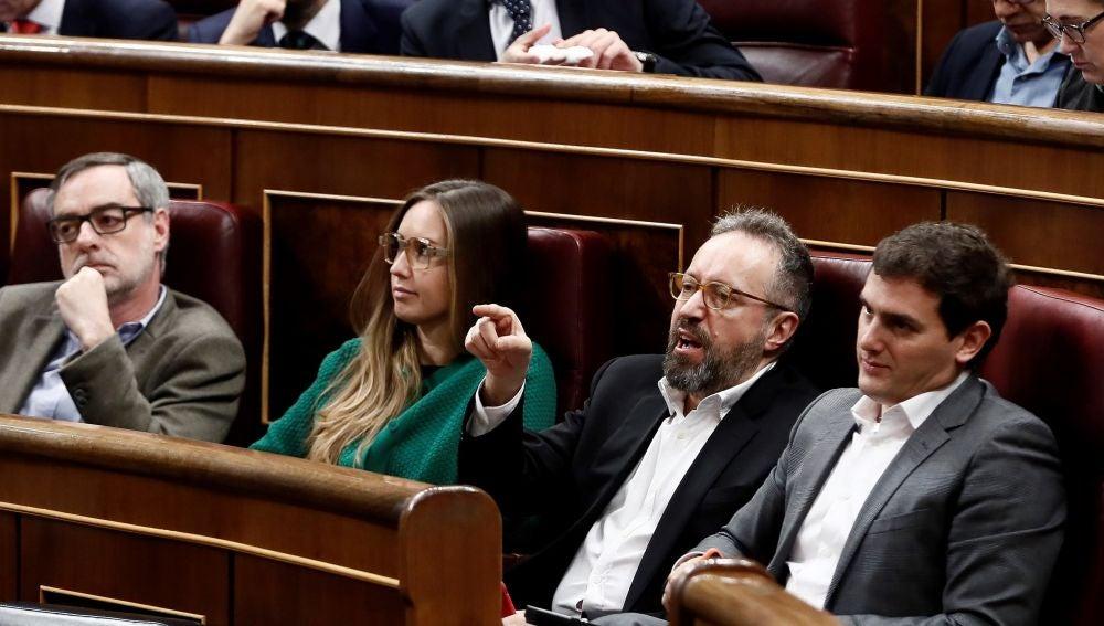El diputado de Ciudadanos Juan Carlos Girauta, y el líder de la formación naranja Albert Rivera