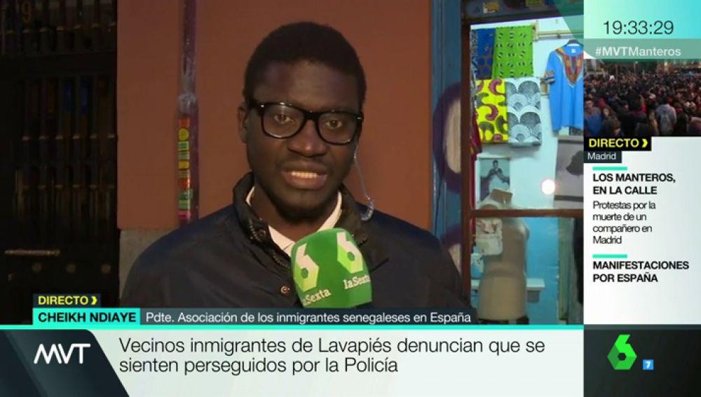 Cheikh Ndiaye, asociación de Inmigrantes Senegaleses de España