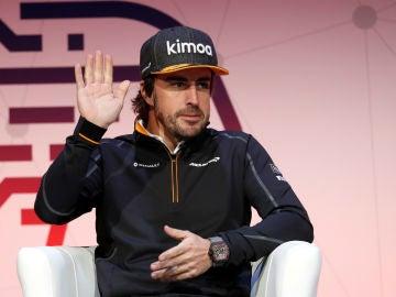 Fernando Alonso, en un acto