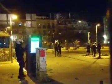 Carga policial en el barrio de Lavapiés