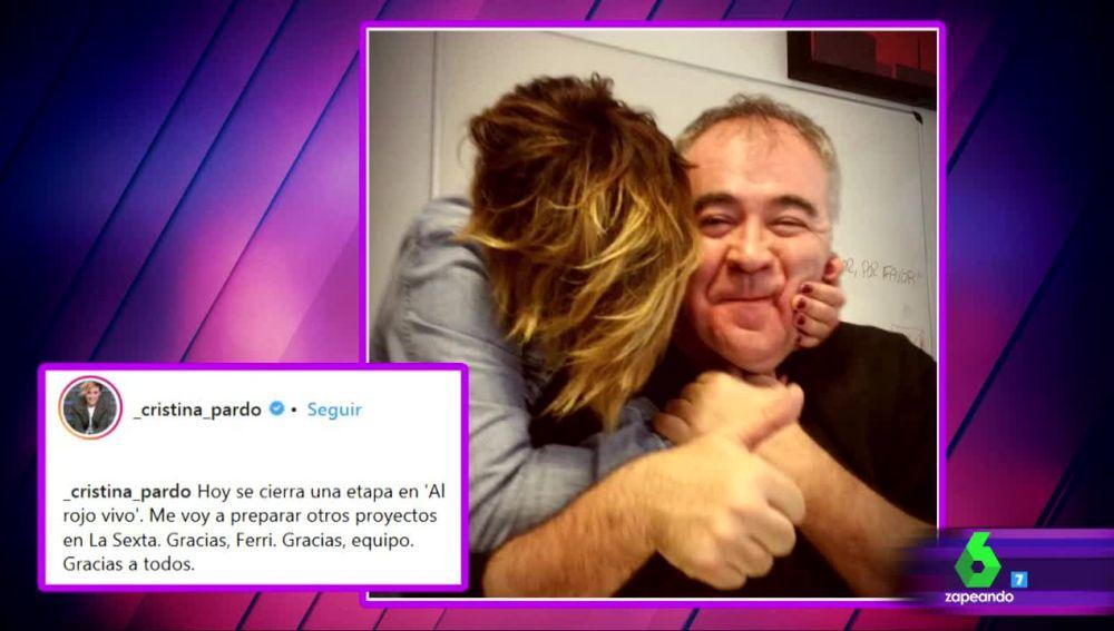 Cristina Pardo se despide de Al Rojo Vivo