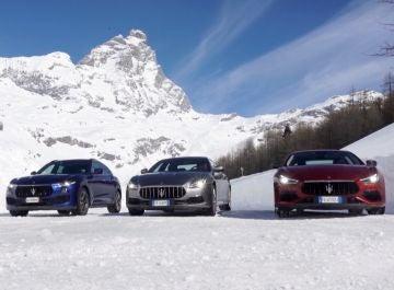 Probamos sobre la nieve de los Alpes la gama Q4 de Maserati: Ghibli, Quattroporte y Levante - Centímetros Cúbicos
