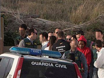 Ana Julia Quezada (de rojo), la autora confesa de la muerte de Gabriel Cruz