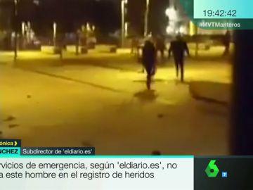 Agresión policial en Madrid