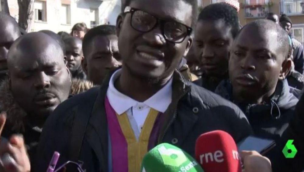 Cheikh Ndiaye, de la asociación  de Senegaleses de España