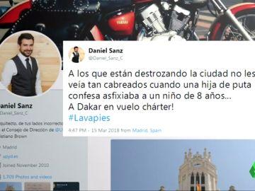 """El polémico comentario de un miembro de UPyD contra los destrozos en Lavapiés: """"No les veía tan cabreados cuando una hija de puta confesa asfixiaba a un niño de ocho años"""""""