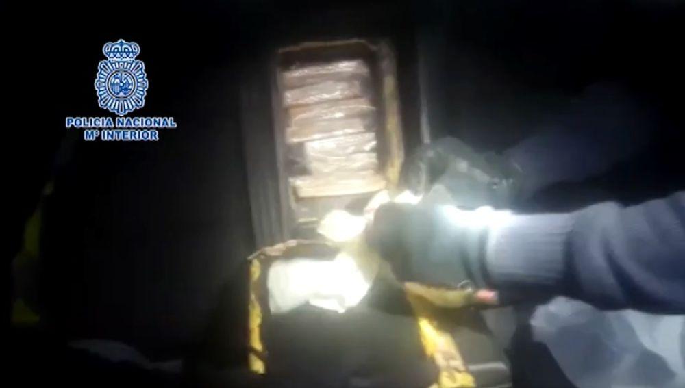 Heroína encontrada por la Policía en una casa de Vilagarcía de Arousa