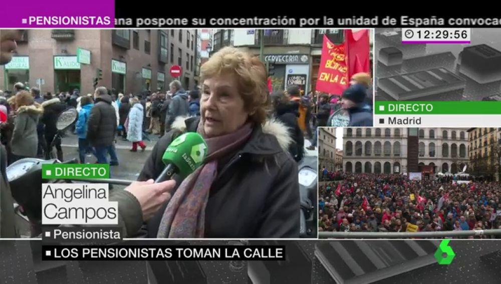 Angelina Campos, pensionista