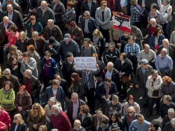 Multitudinaria manifestación de pensionistas en Barcelona