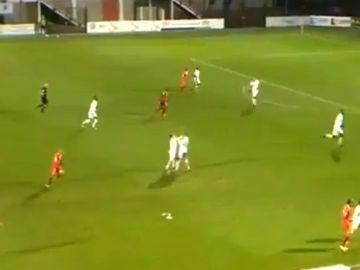 Dos jugadores del Auxerre se pelean