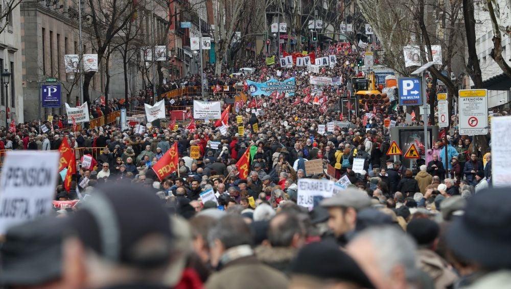 Manifestación en Madrid por unas pensiones dignas