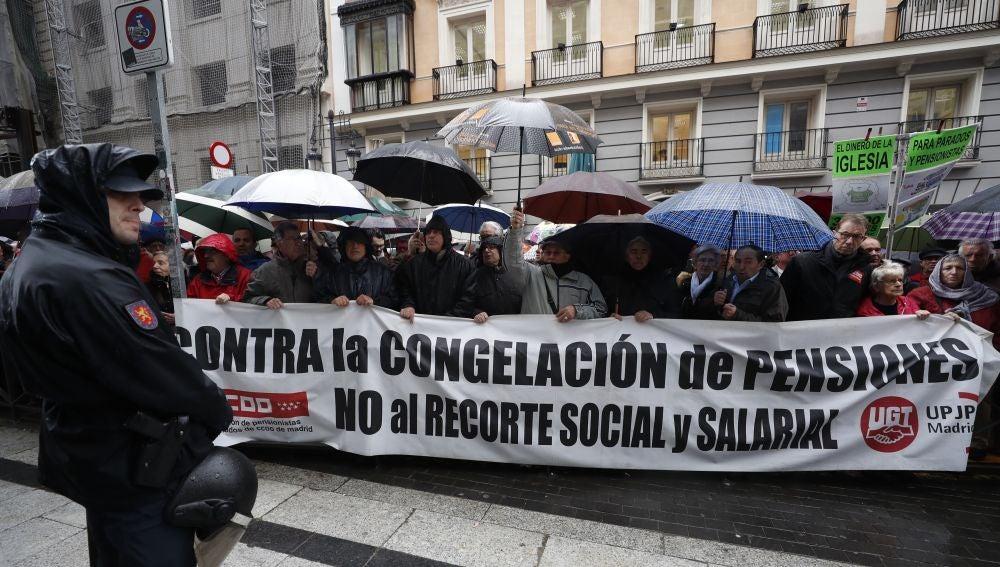 Imagen de archivo de una concentración de pensionistas este mes de marzo