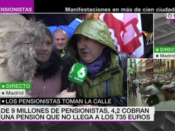 Pepe Álvarez en la manifestación de los pensionistas