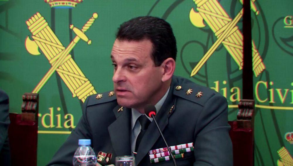 Hernández, jefe de la comandancia de la Guardia Civil de Almería