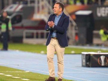 Eusebio, en un partido de la Real Sociedad