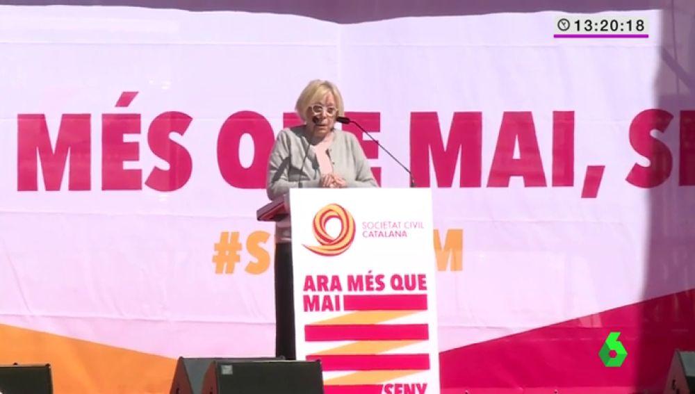 """La petición de Rosa María Sardá a los políticos por Cataluña: """"Que dejen de jugar a ver quien la tiene más larga"""""""