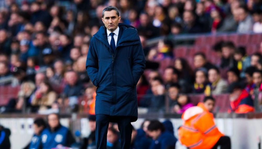 Ernesto Valverde, entrenador del Barcelona