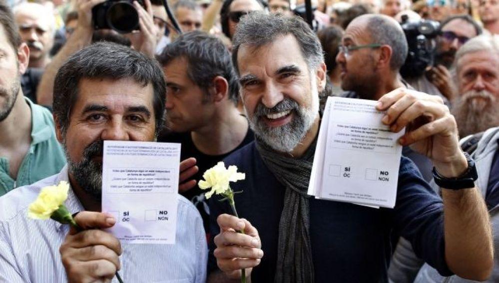 Jordi Sànchez y Jordi Cuixart, en una imagen de archivo