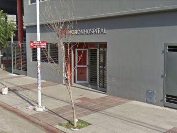 Imagen del hospital de Morón, en Buenos Aires, donde la niña ingresó ya sin vida