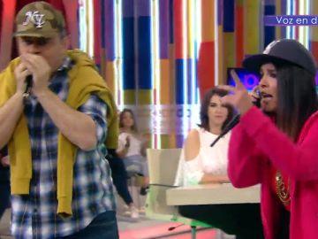 Miki Nadal y Lorena Castell le hacen la competencia a Arkano rapeando sobre actualidad