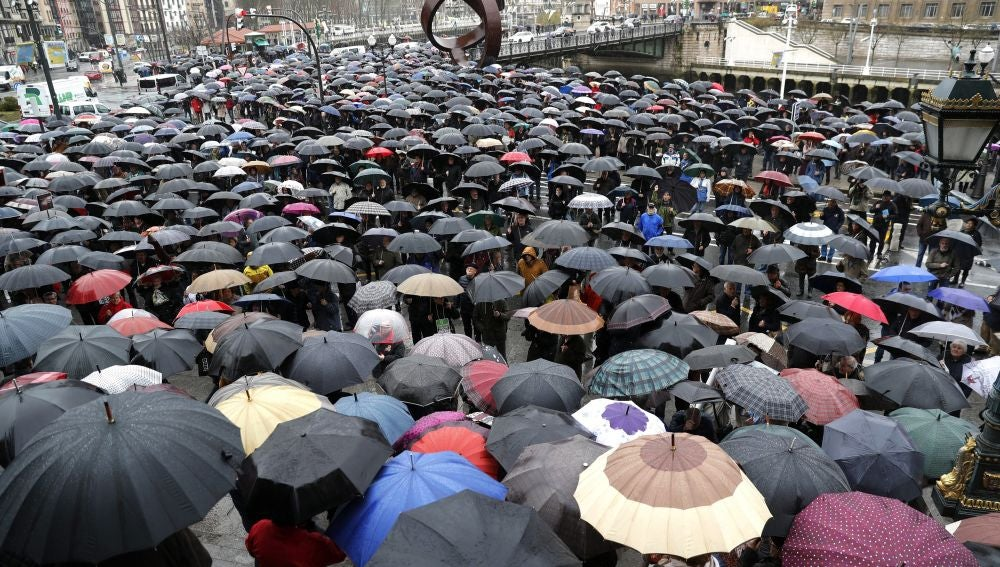 Varios miles de jubilados vuelven a concentrarse en Bilbao