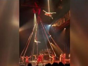 Momentos antes de la muerte del acróbata del Circo del Sol