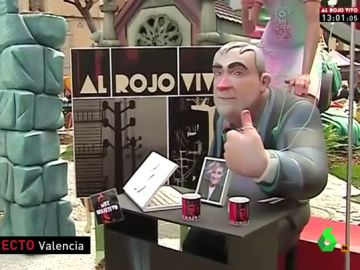 Al Rojo Vivo y García Ferreras, protagonistas en las fallas de Valencia
