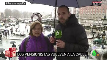 Begoña Iglesias, pensionista